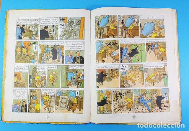 Cómics: LOTE 3 TOMOS TINTIN 2ª Y 3ª EDICION, EL CETRO DE OTOKAR, EL SECRETO DEL UNICORNIO,EL TEMPLO DEL SOL - Foto 10 - 172055497