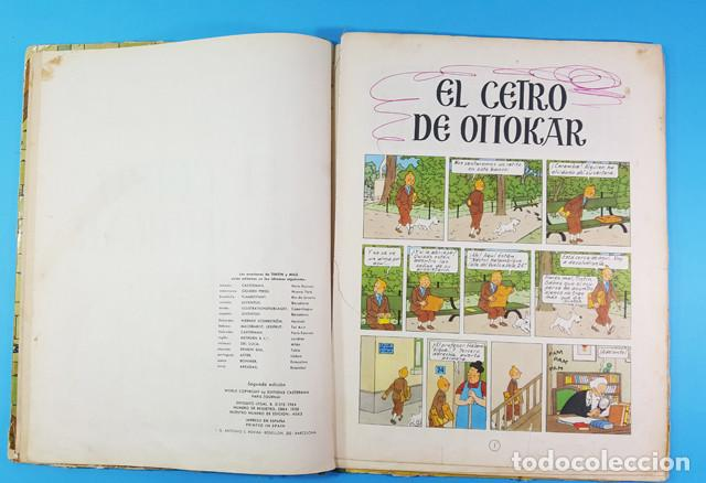 Cómics: LOTE 3 TOMOS TINTIN 2ª Y 3ª EDICION, EL CETRO DE OTOKAR, EL SECRETO DEL UNICORNIO,EL TEMPLO DEL SOL - Foto 15 - 172055497