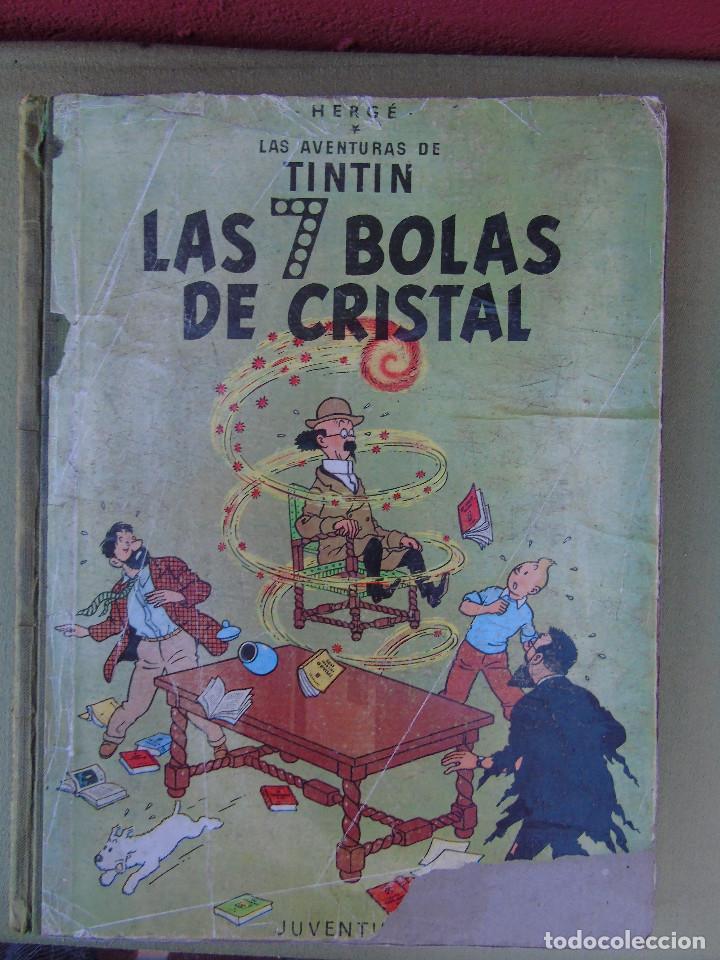 LAS AVENTURAS DE TINTIN. LAS 7 BOLAS DE CRISTAL. HERGÉ. ED. JUVENTUD. 2ª EDICIÓN 1967. (Tebeos y Comics - Juventud - Tintín)