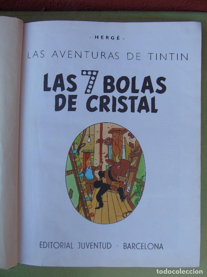 Cómics: LAS AVENTURAS DE TINTIN. LAS 7 BOLAS DE CRISTAL. HERGÉ. ED. JUVENTUD. 2ª EDICIÓN 1967. - Foto 2 - 172089585