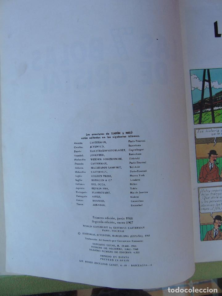 Cómics: LAS AVENTURAS DE TINTIN. LAS 7 BOLAS DE CRISTAL. HERGÉ. ED. JUVENTUD. 2ª EDICIÓN 1967. - Foto 3 - 172089585