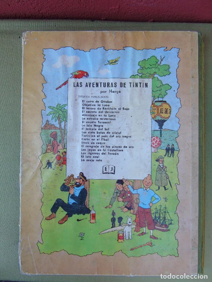 Cómics: LAS AVENTURAS DE TINTIN. LAS 7 BOLAS DE CRISTAL. HERGÉ. ED. JUVENTUD. 2ª EDICIÓN 1967. - Foto 4 - 172089585