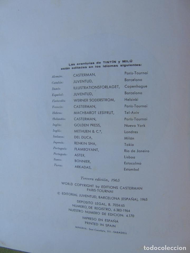 Cómics: LAS AVENTURAS DE TINTIN. EL SECRETO DEL UNICORNIO. HERGÉ. ED. JUVENTUD. 3ª EDICIÓN 1965. - Foto 3 - 172090989