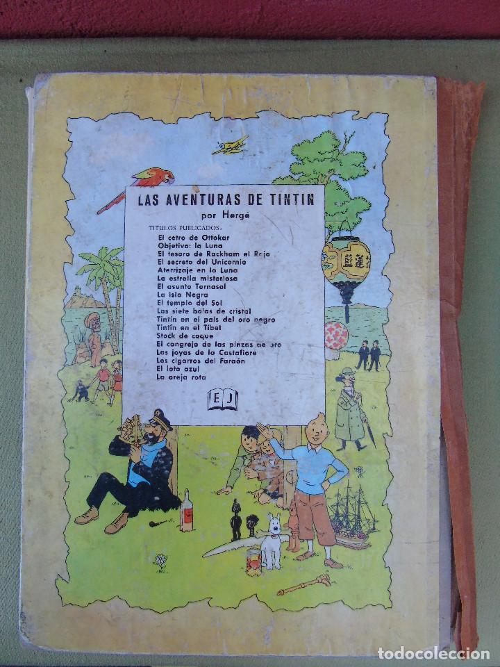 Cómics: LAS AVENTURAS DE TINTIN. EL SECRETO DEL UNICORNIO. HERGÉ. ED. JUVENTUD. 3ª EDICIÓN 1965. - Foto 4 - 172090989