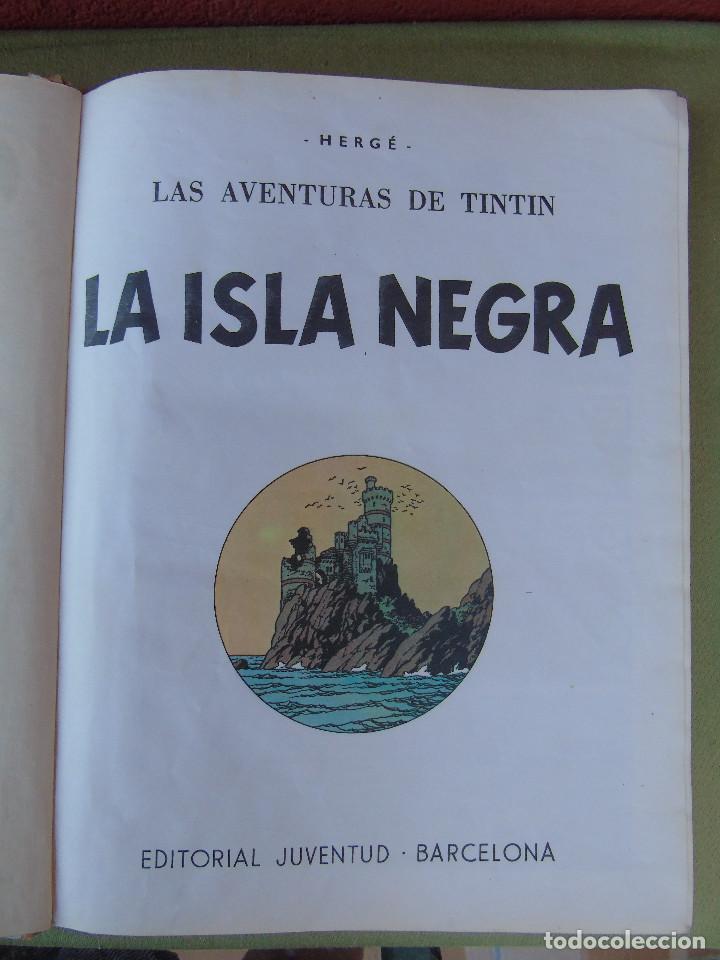 Cómics: LAS AVENTURAS DE TINTIN.LA ISLA NEGRA. HERGÉ. ED. JUVENTUD. 2ª EDICIÓN 1967. - Foto 2 - 172093227