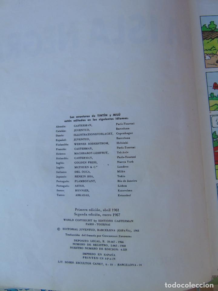 Cómics: LAS AVENTURAS DE TINTIN.LA ISLA NEGRA. HERGÉ. ED. JUVENTUD. 2ª EDICIÓN 1967. - Foto 3 - 172093227