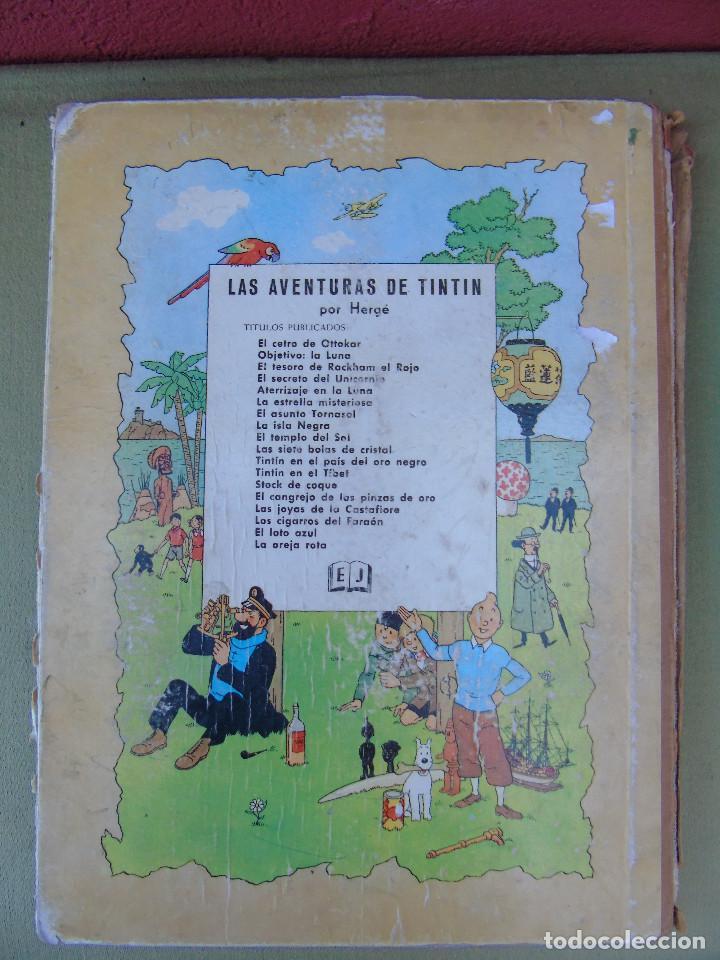 Cómics: LAS AVENTURAS DE TINTIN.LA ISLA NEGRA. HERGÉ. ED. JUVENTUD. 2ª EDICIÓN 1967. - Foto 4 - 172093227