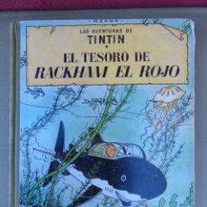 Cómics: LAS AVENTURAS DE TINTIN.EL TESORO DE ROCKHAM EL ROJO. HERGÉ. ED. JUVENTUD. 4ª EDICIÓN 1967.. Lote 172093854