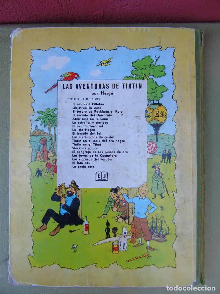 Cómics: LAS AVENTURAS DE TINTIN.EL TESORO DE ROCKHAM EL ROJO. HERGÉ. ED. JUVENTUD. 4ª EDICIÓN 1967. - Foto 3 - 172093854