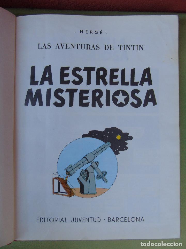 Cómics: LAS AVENTURAS DE TINTIN.LA ESTRELLA MISTERIOSA. HERGÉ. ED. JUVENTUD. 3ª EDICIÓN. DICIEMBRE 1967. - Foto 2 - 172094443