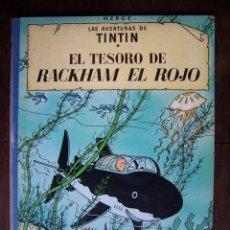 Cómics: TINTÍN - EL TESORO DE RACKHAM EL ROJO. 4TA EDICIÓN. 1971. Lote 172233873