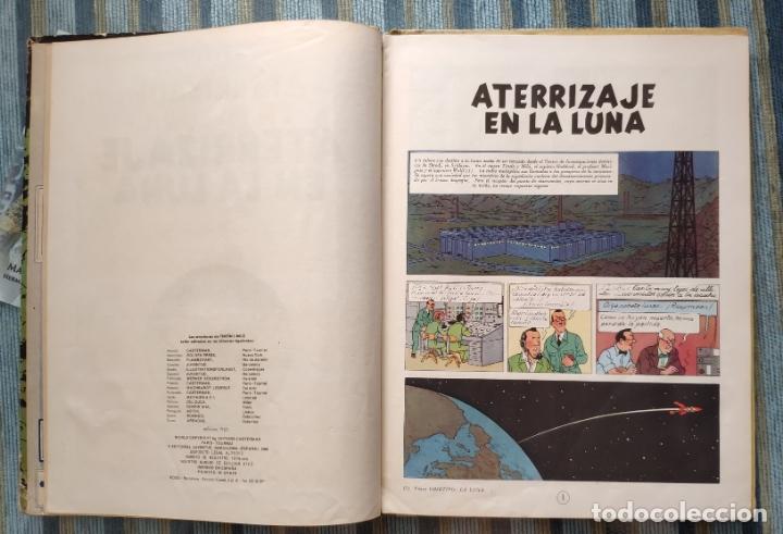 Cómics: LAS AVENTURAS DE TINTIN: ATERRIZAJE EN LA LUNA (SEGUNDA EDICION) - HERGE (JUVENTUD 1965) - Foto 3 - 172319924