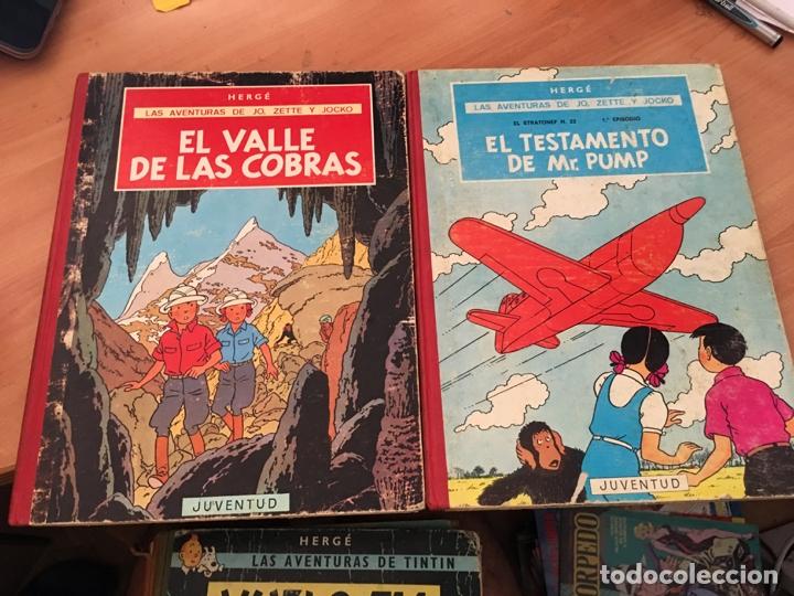 LAS AVENTURAS DE JO, ZETTE Y JOCKO HERGE EL TESTAMENTO DE MR PUMP, VALLE COBRAS 1ª EDICION (COIB21 (Tebeos y Comics - Juventud - Otros)