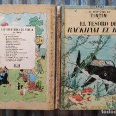 Cómics: LAS AVENTURAS DE TINTIN EL TESORO DE RACKHAN EL ROJO (SEGUNDA EDICION) - HERGE (JUVENTUD 1964). Lote 173602548
