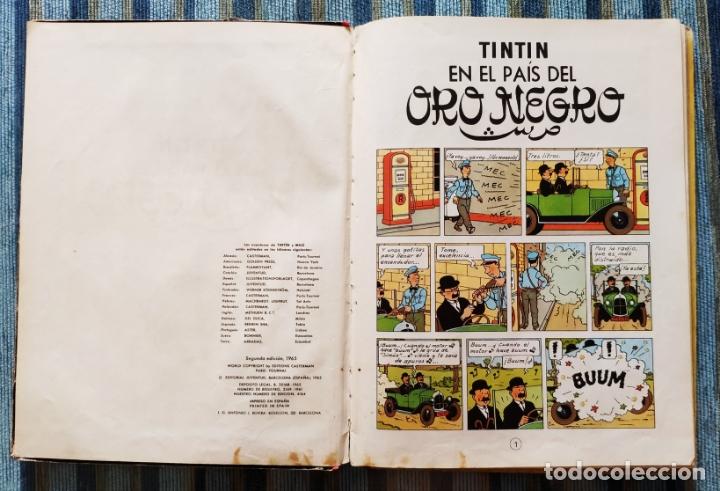 Cómics: LAS AVENTURAS DE TINTIN EN EL PAIS DEL ORO NEGRO (SEGUNDA EDICION) - HERGE (JUVENTUD 1965) - Foto 2 - 173602983