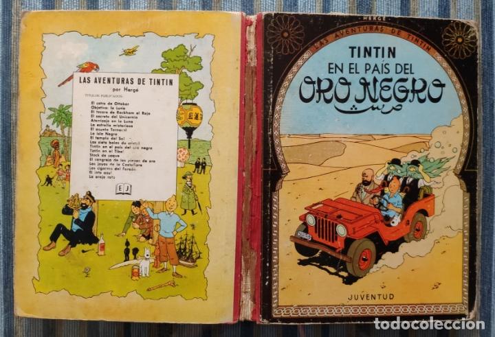 LAS AVENTURAS DE TINTIN EN EL PAIS DEL ORO NEGRO (SEGUNDA EDICION) - HERGE (JUVENTUD 1965) (Tebeos y Comics - Juventud - Tintín)