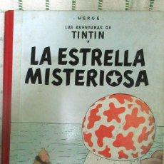 Cómics: TINTIN. SUPER RARO. PRIMERA EDICION. CONTRAPORTADA 2ª EDICION.JUVENTUD 1960 LA ESTRELLA MISTERIOSA. Lote 173934688