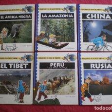 Cómics: CUADERNOS DE RUTA DE TINTÍN. HERGÉ. COLECCIÓN COMPLETA 6 TOMOS. ÁFRICA CHINA RUSIA PERU.... Lote 173963703