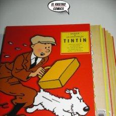 Cómics: TINTIN, BOX CAJA CONTENIENDO 5 TOMOS CASTERMAN PANINI, SON AMERICA OREJA, BOLAS, TEMPLO Y PICAROS 7A. Lote 174423900