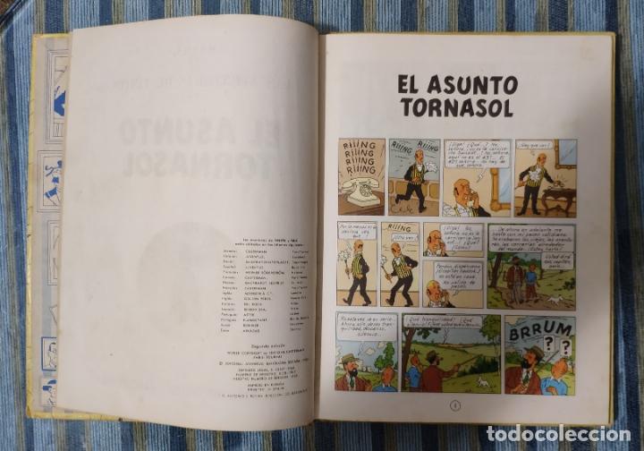 Cómics: LAS AVENTURAS DE TINTIN EL ASUNTO TORNASOL (SEGUNDA EDICION) - HERGE (JUVENTUD 1965) - Foto 2 - 175269464