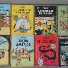 Cómics: LOTE 8 TOMOS TINTIN AÑOS 60 - 1965 1967 1969 -. Lote 175708293