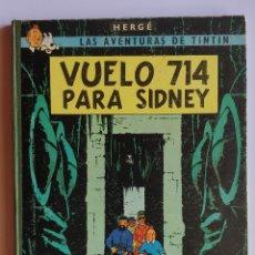 Cómics: HERGE - TINTIN - VUELO 714 PARA SIDNEY - LOMO TELA - ED. JUVENTUD 1971, 2DA EDICION - EN BUEN ESTADO. Lote 175792987