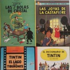 Cómics: LOTE TINTIN / 3 LIBROS + EL DICCIONARIO. Lote 175797415