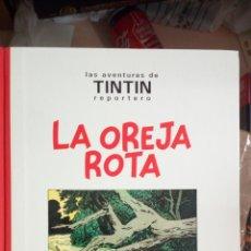 Cómics: TINTIN LA OREJA ROTA - HERGÉ - JUVENTUD 1ª PRIMERA EDICIÓN 1994 LOMO DE TELA BLANCO Y NEGRO TINTIN . Lote 175909858