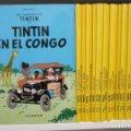 Lote 176000447: COLECCION COMPLETA TINTIN 23 EJEMPLARES + EL DICCIONARIO + EL MUSEO IMAGINARIO SON 1ª EDICION