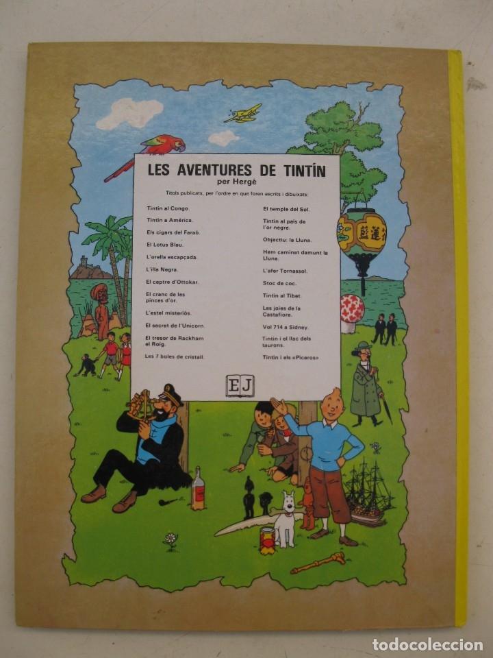 Cómics: LES AVENTURES DE TINTIN - STOC DE COC - HERGÉ - JOVENTUT - EN CATALÁN - AÑO 1982. - Foto 3 - 176370392