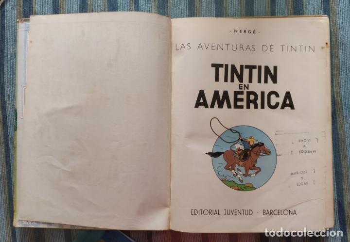 Cómics: TINTIN EN AMERICA (PRIMERA EDICION) - HERGE (JUVENTUD 1968) - Foto 2 - 176969350