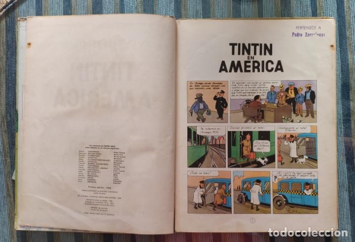 Cómics: TINTIN EN AMERICA (PRIMERA EDICION) - HERGE (JUVENTUD 1968) - Foto 3 - 176969350