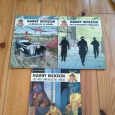 Cómics: HARRY DICKSON 1 2 Y 3: LA BANDA DE LA ARAÑA, LOS FANTASMAS VERDUGOS Y LOS TRES CÍRCULOS DEL MIEDO. Lote 177671319