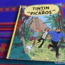 Comics : BUEN PRECIO, TINTIN Y LOS PÍCAROS 1ª PRIMERA EDICIÓN. JUVENTUD 1976. EDICIÓN EN RÚSTICA.. Lote 177783173