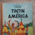 Lote 177866448: AVENTURAS DE TINTIN - TINTIN EN AMERICA - LOMO DE TELA 2ª EDICION - HERGE -JUVENTUD