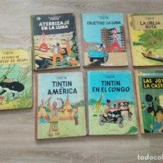 Cómics: TINTIN EN EL CONGO 1968/ OREJA ROTA 69/ OBJETIVOLA LUNA 69/ATERRIZAJE EN LA LUNA 69/ LOTE 7. Lote 177880699