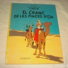 Cómics: LES AVENTURES DE TINTIN . EL CRANC DE LES PINCES D OR. SISENA EDICIO 1982. EN CATALA.. Lote 177987977