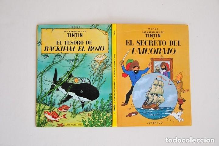 RAREZA TINTIN DOS PORTADAS EL SECRETO DEL UNICORNIO Y EL TESORO DE RACKHAM EL ROJO EDICION ESPECIAL (Tebeos y Comics - Juventud - Tintín)
