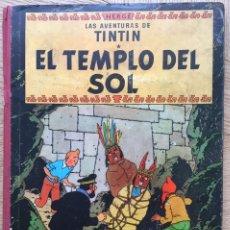 Cómics: TINTÍN - EL TEMPLO DEL SOL. PRIMERA EDICIÓN LOMO ROJO. Lote 178823416