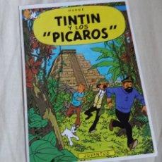 Cómics: POSTAL ORIGINAL. EDITORIAL JUVENTUD. 1983. TINTÍN Y LOS PÍCAROS. CON FUNDA DE PLÁSTICO PROTECTORA.. Lote 178870115