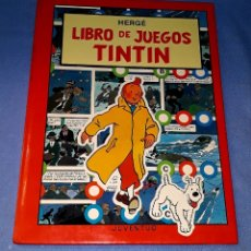 Cómics: LIBRO DE JUEGOS TINTIN JUVENTUD AÑO 1989 ORIGINAL EXCELENTE ESTADO. Lote 179002298
