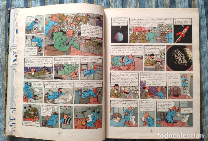 Cómics: TINTIN ATERRIZAJE EN LA LUNA (PRIMERA EDICION) - HERGE (JUVENTUD 1959) - Foto 3 - 180183807