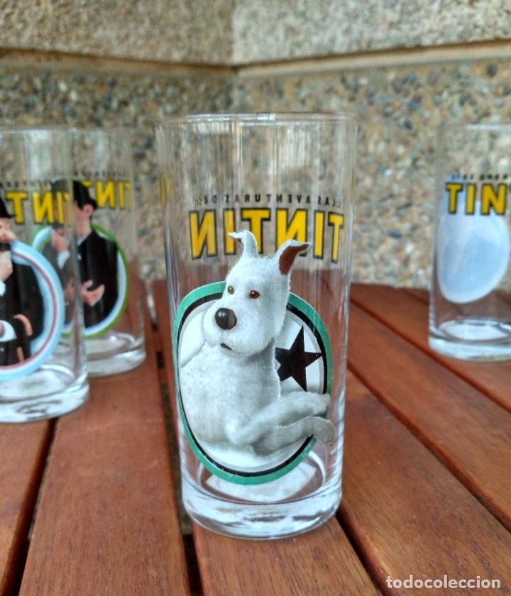 Cómics: COLECCION 6 VASOS DE CRISTAL LAS AVENTURAS DE TINTIN. PARAMOUNT PICTURES 2011 - Foto 8 - 181155818