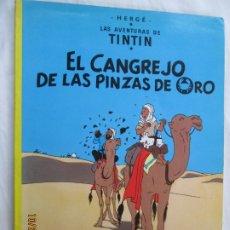 Cómics: LAS AVENTURAS DE TINTIN - EL CANGREJO DE LAS PINZAS DE ORO - NOVENA EDICIÓN 1984. . Lote 181425828