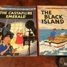 Cómics: THE CASTAFIORE EMERALD Y THE BLACK ISLAND - TINTIN - EDICIONES DEL PRADO EN INGLÉS. Lote 181541027