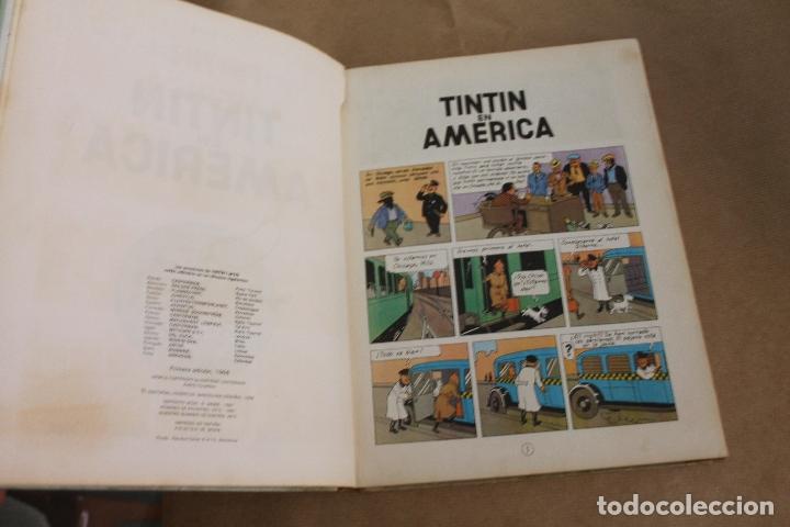 Cómics: TINTIN EN AMÉRICA, 1ª EDICIÓN, LOMO DE TELA, EDITORIAL JUVENTUD - Foto 2 - 182077960
