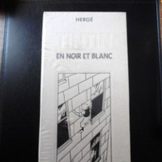 Cómics: COFRE TINTIN HERGE - NOIR ET BLANC (1987) - 9 MINI FACSIMILES - BIBLIOTHEQUE DE MOULINSART - NUEVO. Lote 182237195