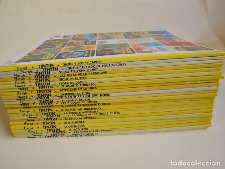 COLECCIÓN COMPLETA DE TINTIN - 23 ÁLBUMES EN RÚSTICA (TAPA BLANDA) - EDITORIAL JUVENTUD (Tebeos y Comics - Juventud - Tintín)