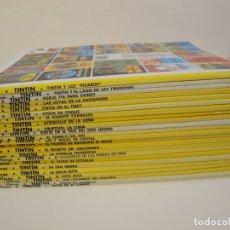 Cómics: COLECCIÓN COMPLETA DE TINTIN - 23 ÁLBUMES EN RÚSTICA (TAPA BLANDA) - EDITORIAL JUVENTUD. Lote 182380467