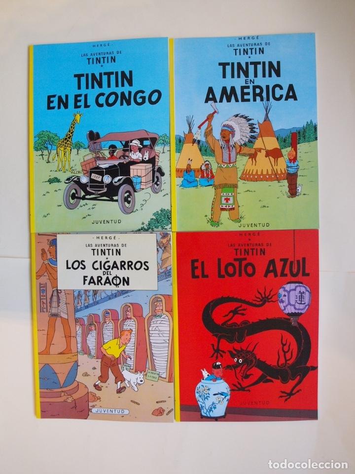 Cómics: COLECCIÓN COMPLETA DE TINTIN - 23 ÁLBUMES EN RÚSTICA (TAPA BLANDA) - EDITORIAL JUVENTUD - Foto 2 - 182380467